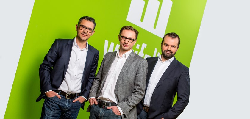 Das Management-Team von Wikifolio, von links nach rechts: Stefan Kainz (CCO), Andreas Kern (Gründer & CEO), Stefan Greunz (Head of Business Development).
